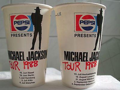 2 MEGARARE Michael Jackson PEPSI, Europe, BAD World Tour, Concert CUP, NEW, MINT - http://www.michael-jackson-memorabilia.com/?p=2428