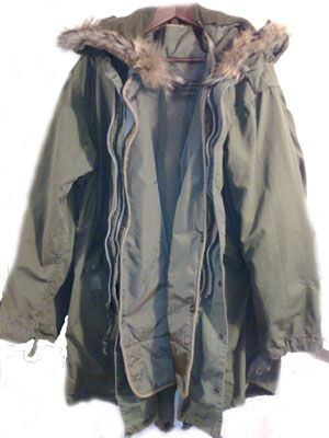 M-1951 Parka with wolf fur hood (outlawed in 1970's) i just found ...