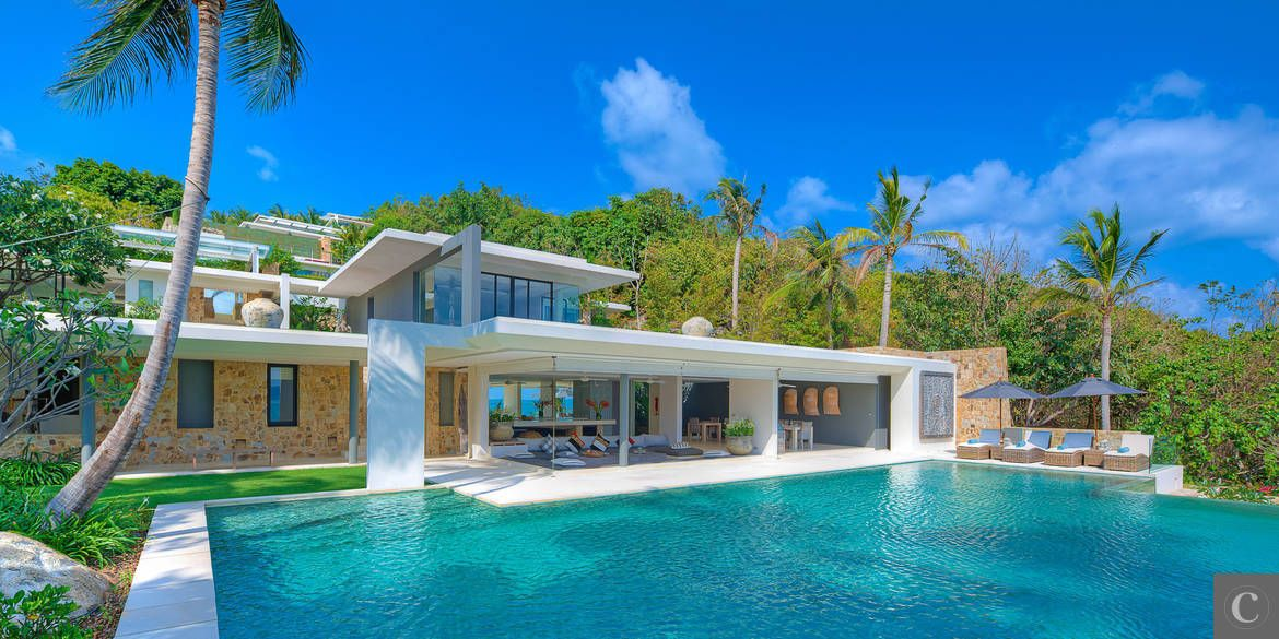 Location de villa de luxe koh samui tha lande villas for Villa de luxe design