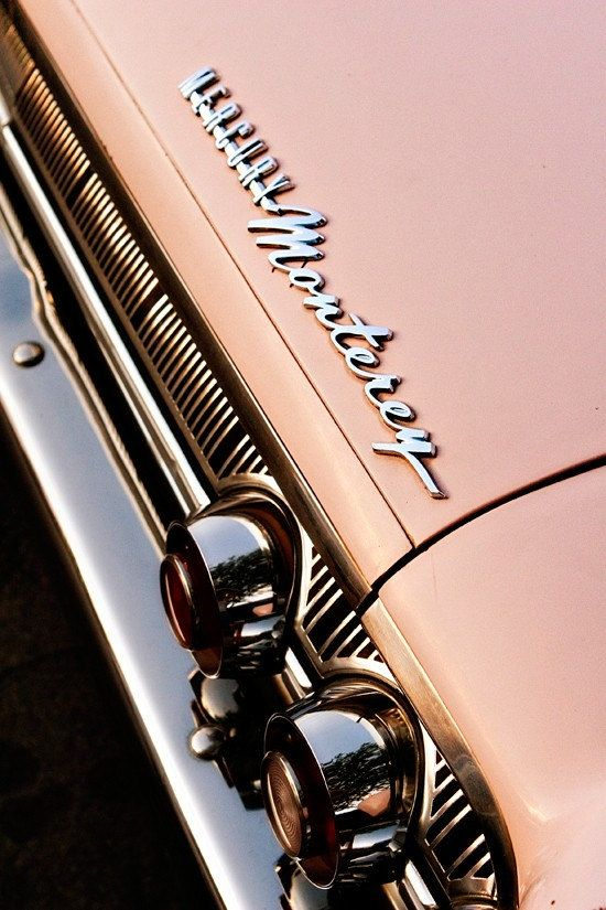 Items similar to Pink Mercury Monterey Classic Car – Car Art for Her – Chrome Details – Mad Men Inspired – Typography – 8X12 Fine Art Photograph on Etsy