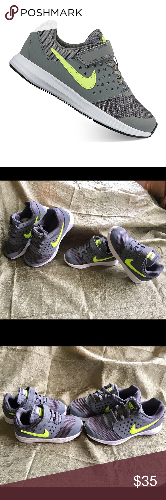size 40 a5359 27866 Nike shoes for youth!! Nike Downshifter 7 youth Boys Shoes, size 11 and 8,  color gray and green, brand new, price above is for each pair Nike Shoes  Sneakers