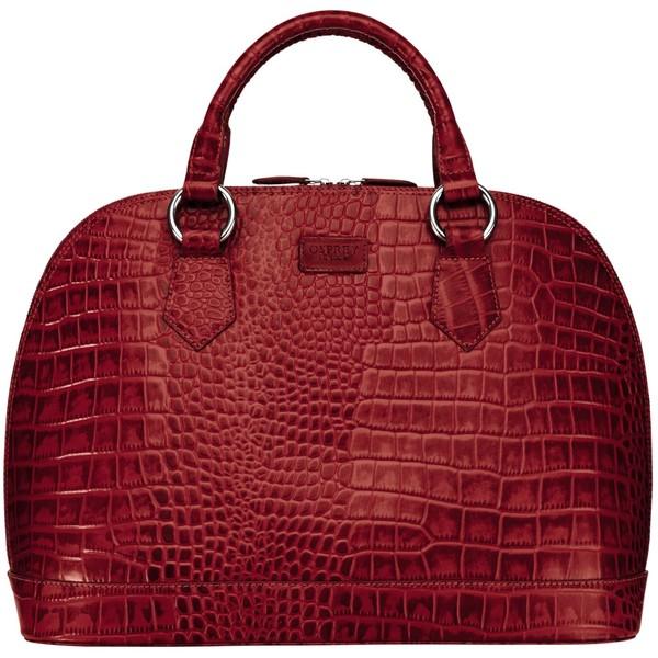 OSPREY LONDON Large Ladybug Croc Print Grab Handbag , Red (129.490 ...