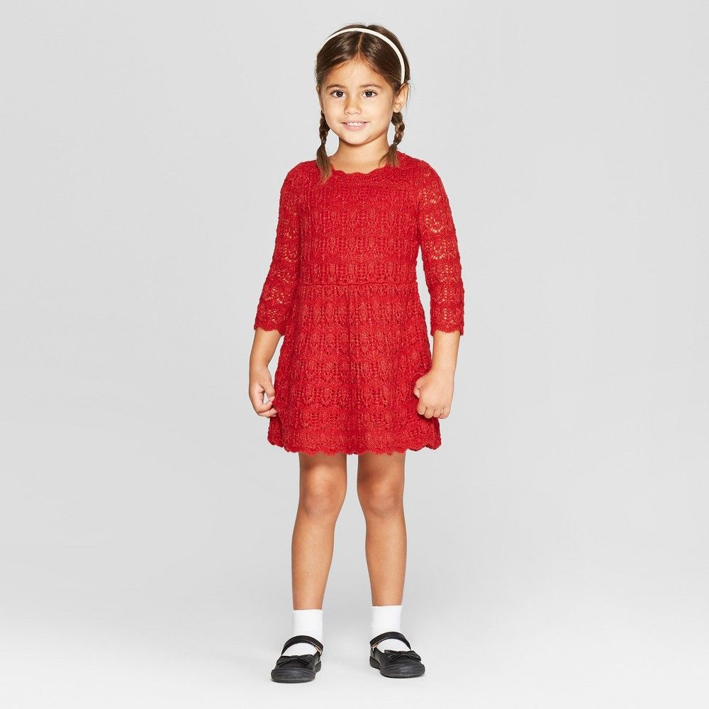 Toddler Girls Sweater Dress Cat Jack Red Sparkle 12m In 2021 Girls Sweaters Sweater Dress Toddler Sweater Dress [ 1000 x 1000 Pixel ]