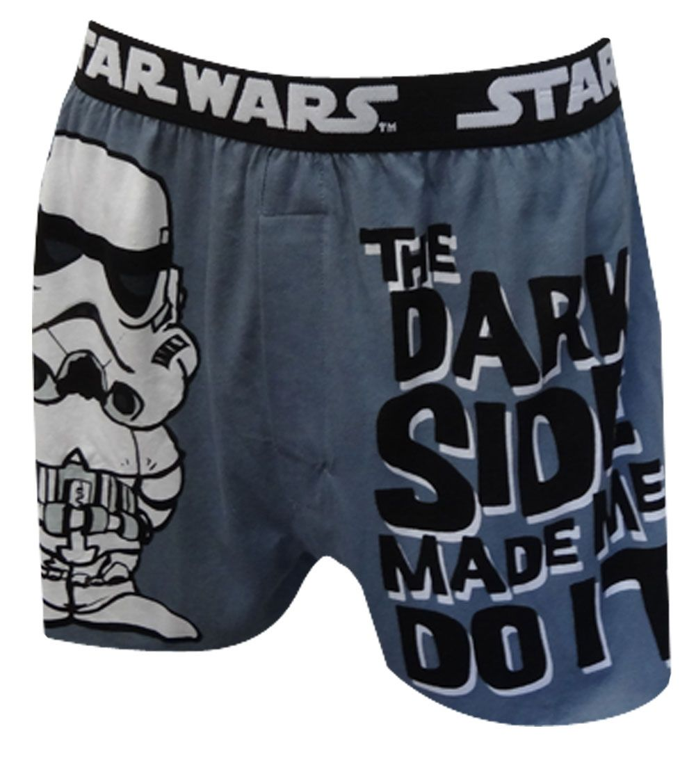 star wars the dark side made me do it boxer shorts welcome to the dark side these 100 cotton. Black Bedroom Furniture Sets. Home Design Ideas