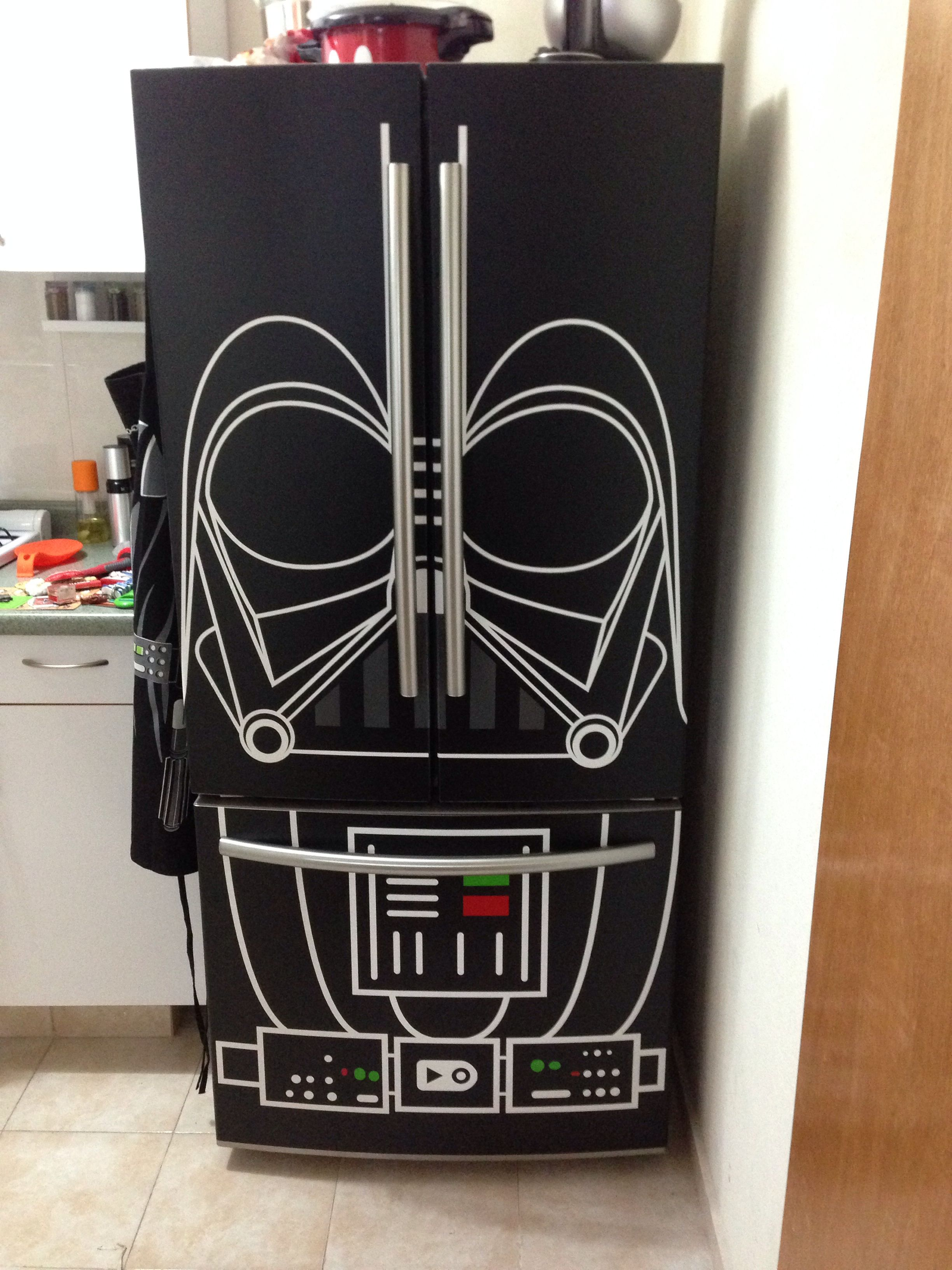 Vinil De Darth Vader Para Refrigerator Vinilos Y Viniles