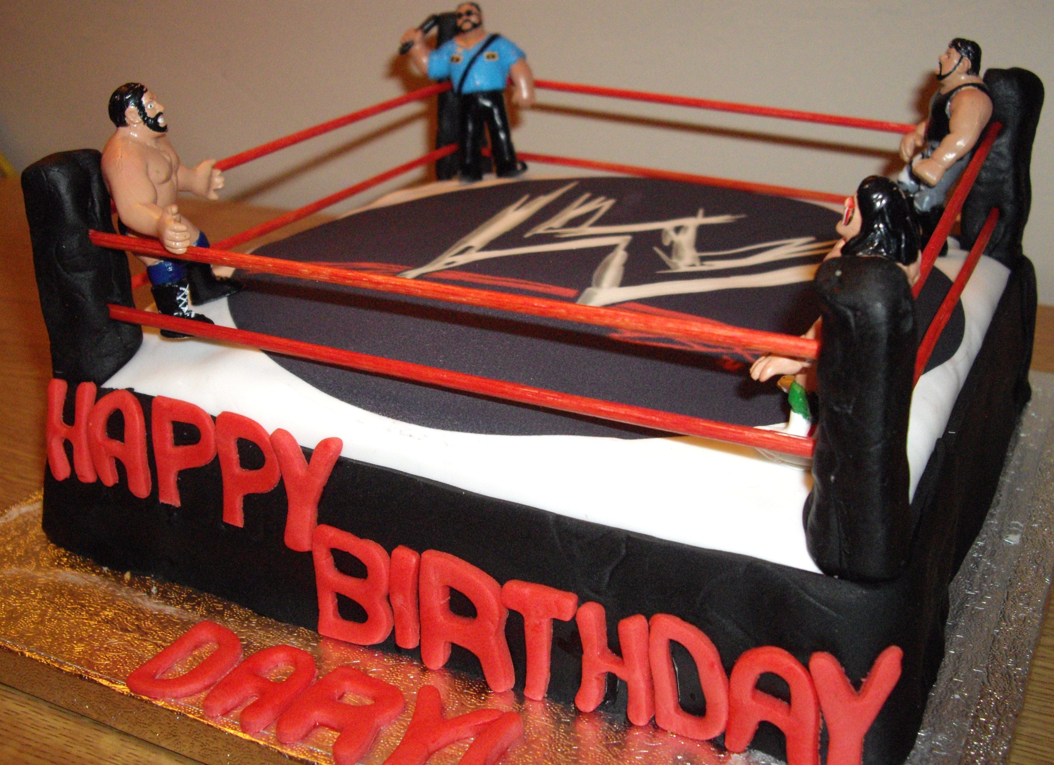Wwe Wrestling Ring Birthday Cake Wwe Wrestling Cake