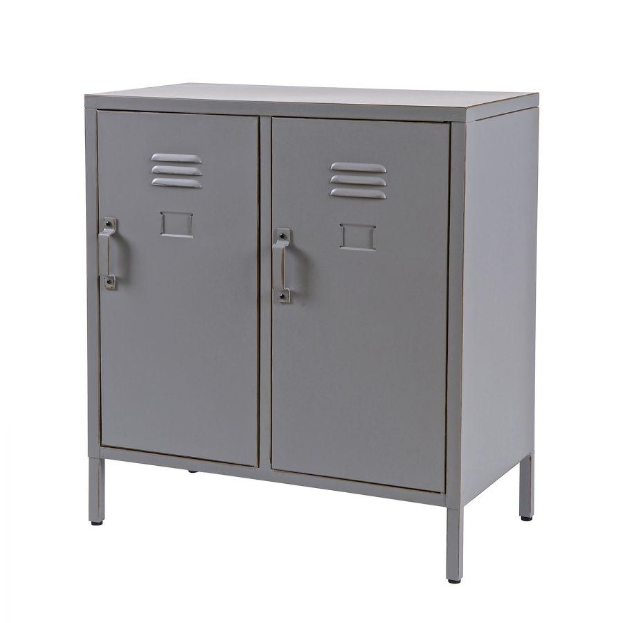 19999 Kommode Max Metall Grau Locker Storage Decor