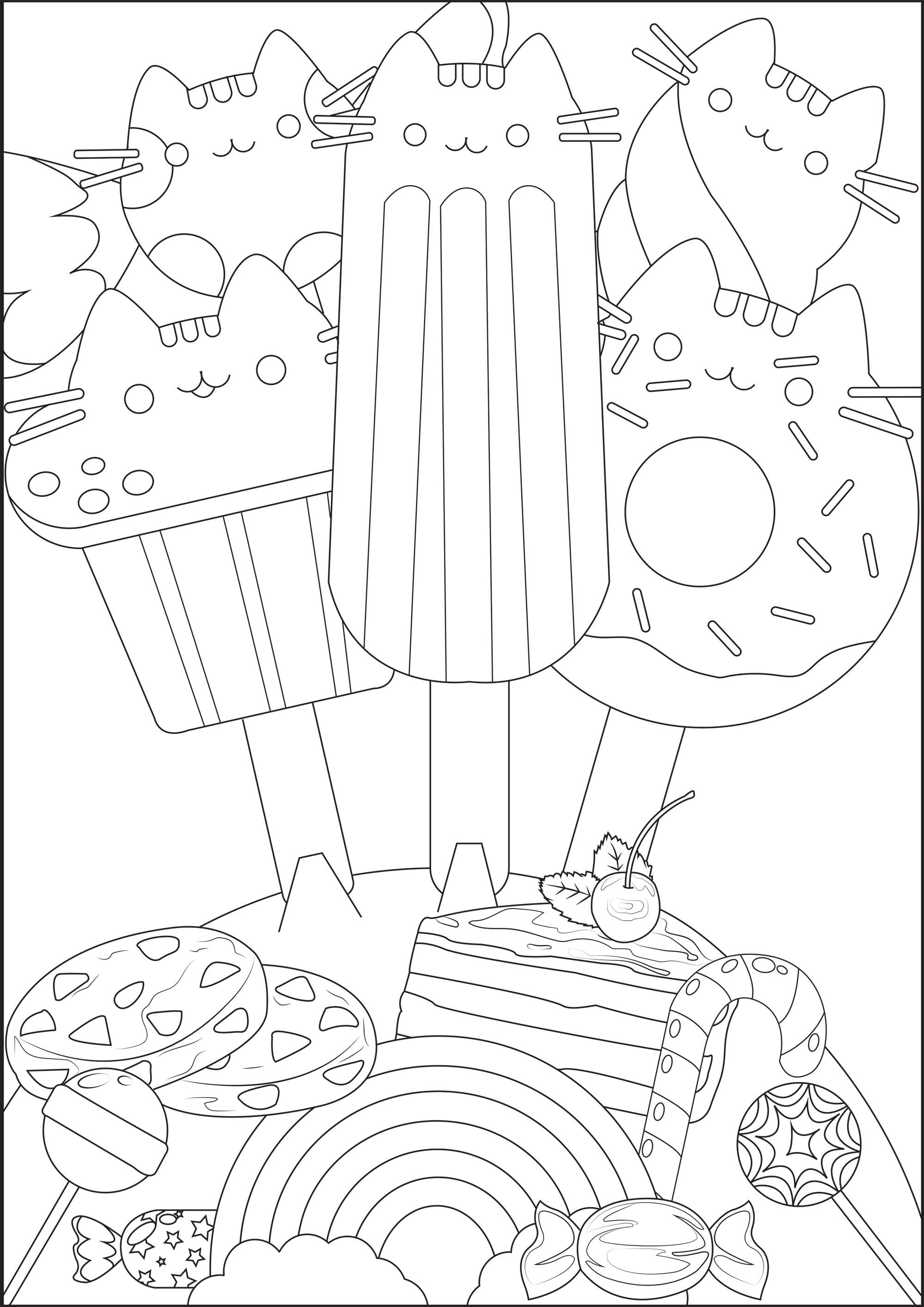 Delicious Ice Creams With Pusheen S Head Cakes And Candy From The Gallery Doodling Doodle Ice Cream Coloring Pages Coloring Pages Pusheen Coloring Pages