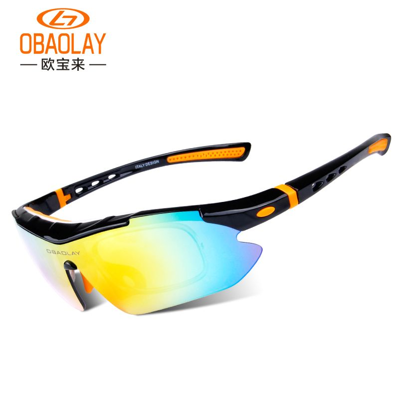 fa5779eb6e OBAOLAY 2016 Polarized Cycling Glasses Outdoor Sports Bicycle Glasses Bike  Sunglasses Goggles Cycling Eyewear 5 Lens