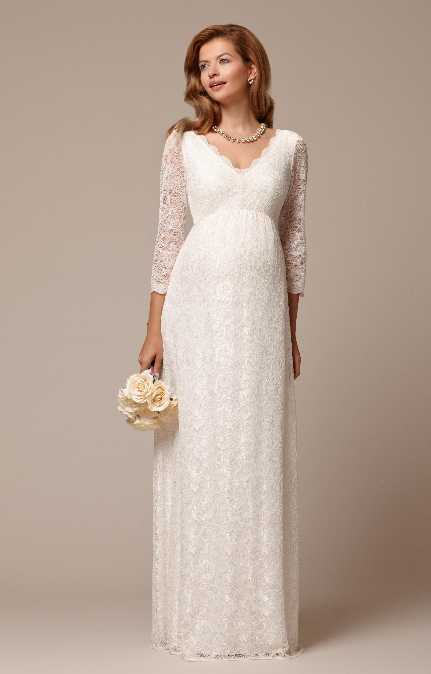 9fa1eb95af9ab Chloe Lace Gown | Our Knot | Pregnant wedding dress, Wedding dresses ...