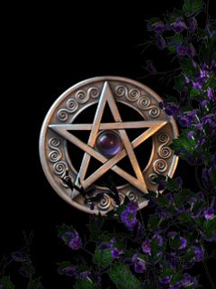 A Damascus Style Pentagram On A Pink And Grey Backdrop: Religious ...