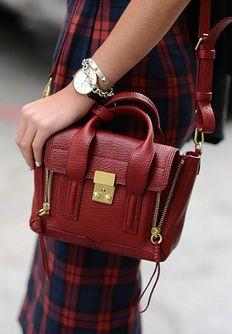 Red Mini Satchel Bag Pashli By 3 1 Phillip Lim