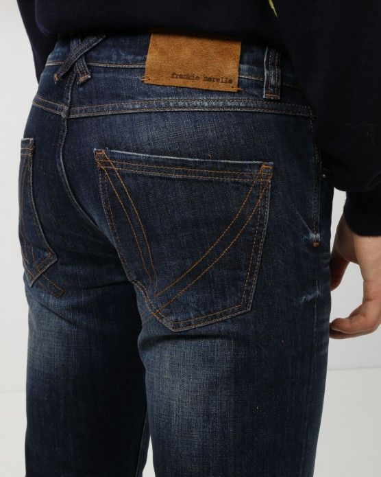 SKINNY FIT 5 POCKET DENIM - DENIM - MEN #gilmarbox #frankiemorello #mencollection #fashion #luxury