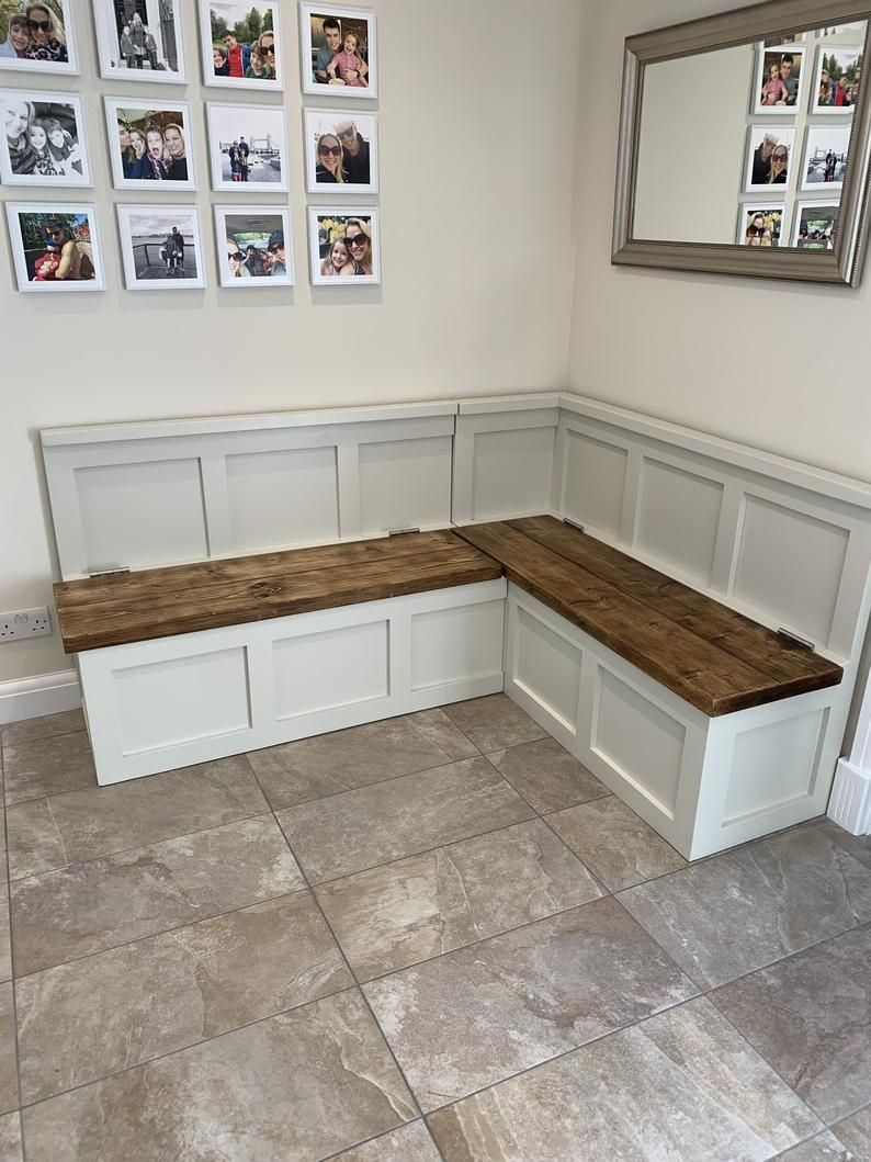 Corner seating kitchen diner banquette farrow and ball