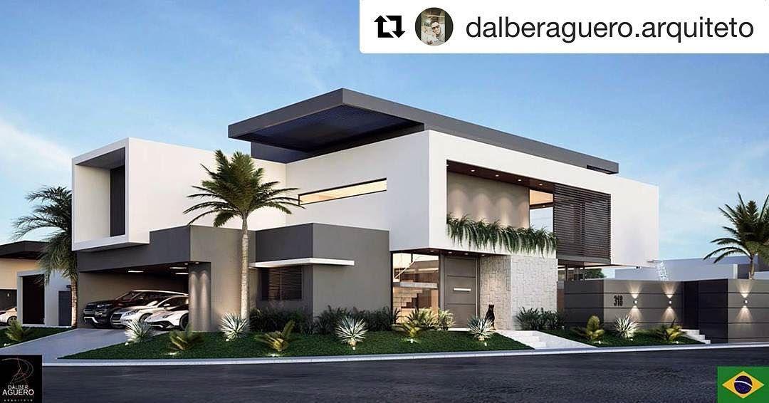 Alphaville, Maison Moderne, Campo Grande, Maison De Façade, Construction D U0027une