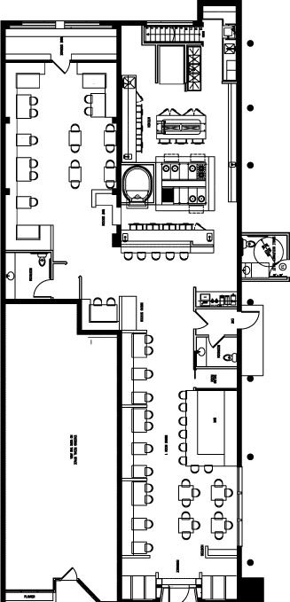 Room Layout Design Layouts Dining Area Rooms Report Casual Restaurants Parties Organization