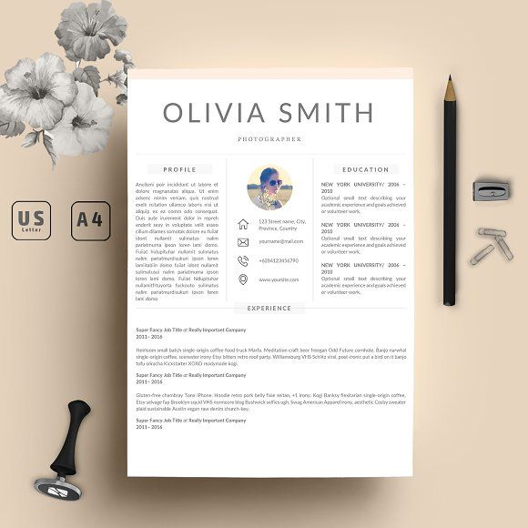 Word Resume Template + Cover Letter by My Resume on - create cover letter for my resume