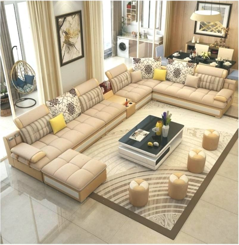 Corner Couches Design Fabric Leather Luxury Indian Living Rooms Corner Couches Desi In 2020 Living Room Leather Indian Living Rooms Corner Sectional Sofa