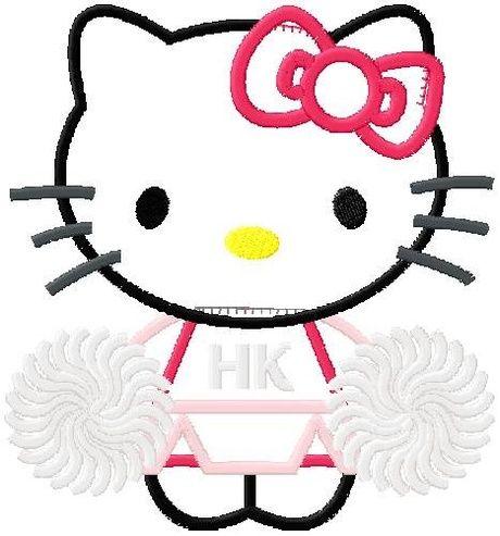 shoply com hello kitty cheerleader machine applique design in 4 rh pinterest com