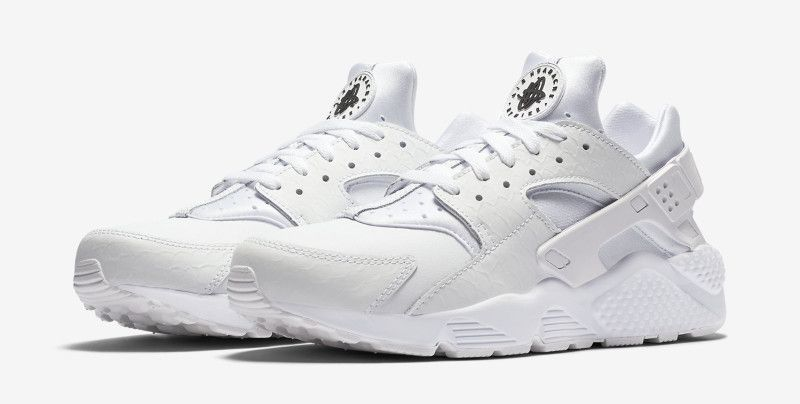 online store 7699f 0f671 Official Images Of The All-White Nike Air Huarache With Scale Detailing