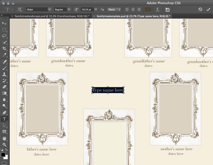 Take Out Photo Family Tree Photoshop Tutorial And Free Template