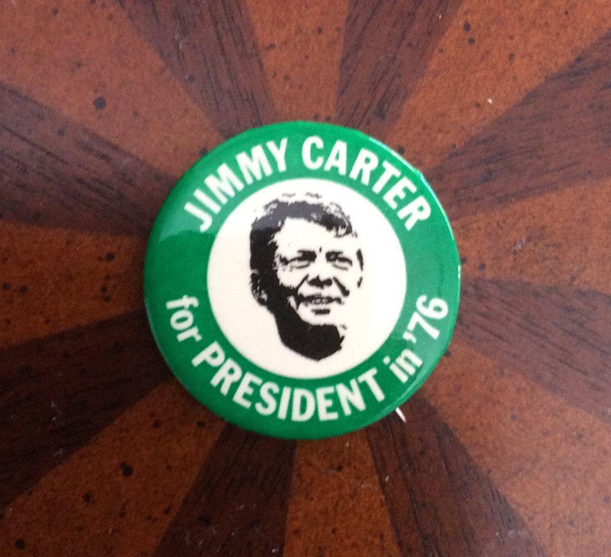 JIMMY CARTERFOR PRESIDENT 1976 PRESIDENTIAL VINTAGE POLITICAL BUTTON PINBACK