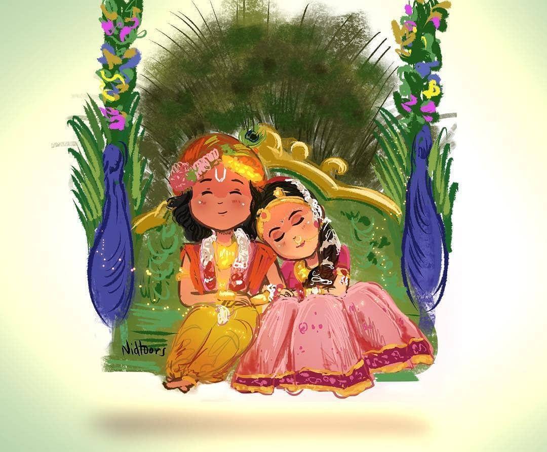 No Photo Description Available Krishna Radha Painting Cute Krishna Radha Krishna Art