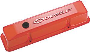 Proformparts Com Chevy Orange Aluminum Valve Covers For Chevy