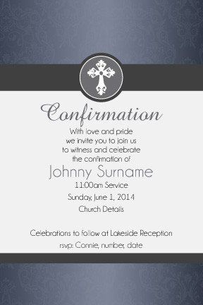 communion and confirmation digital printable invitation righteous