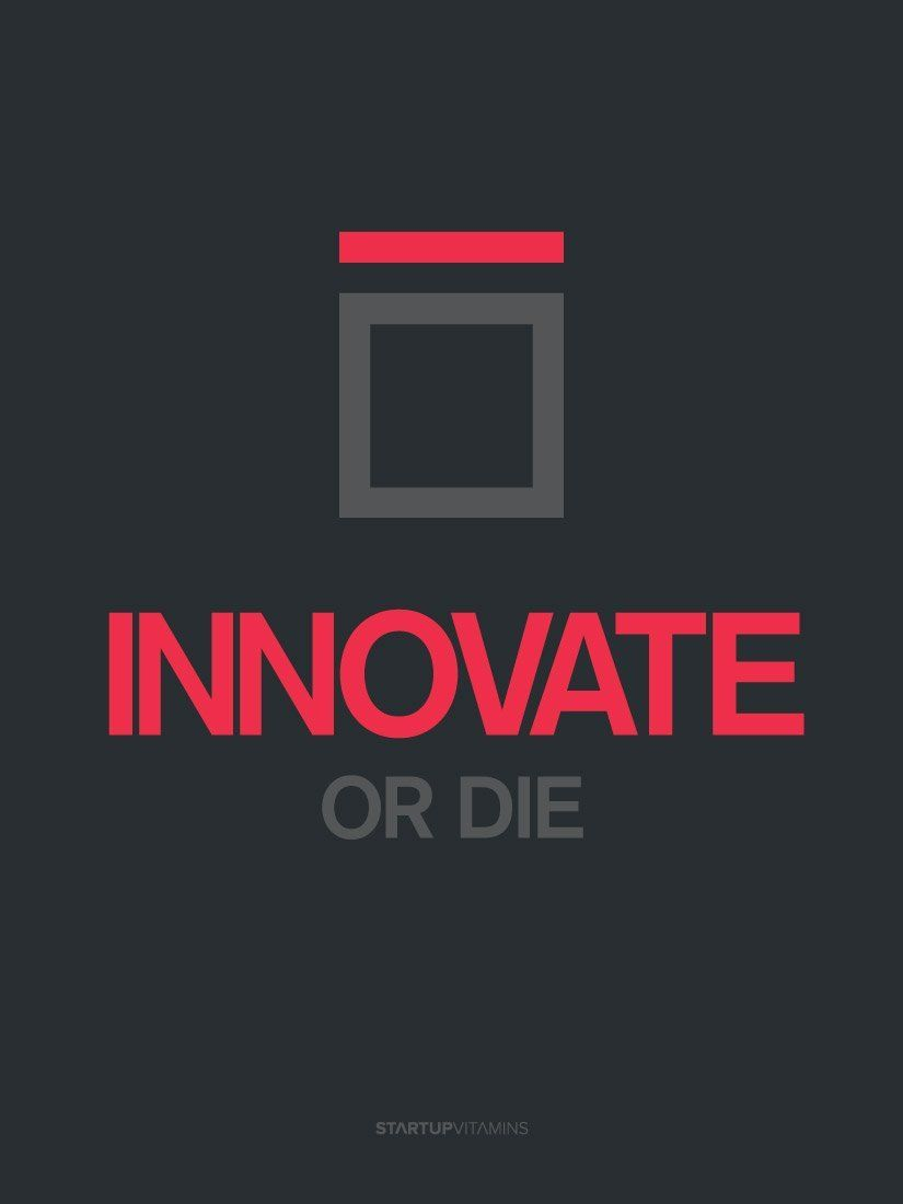 Amazoncom Poster Innovate Or Die Startup Vitamins 18x24