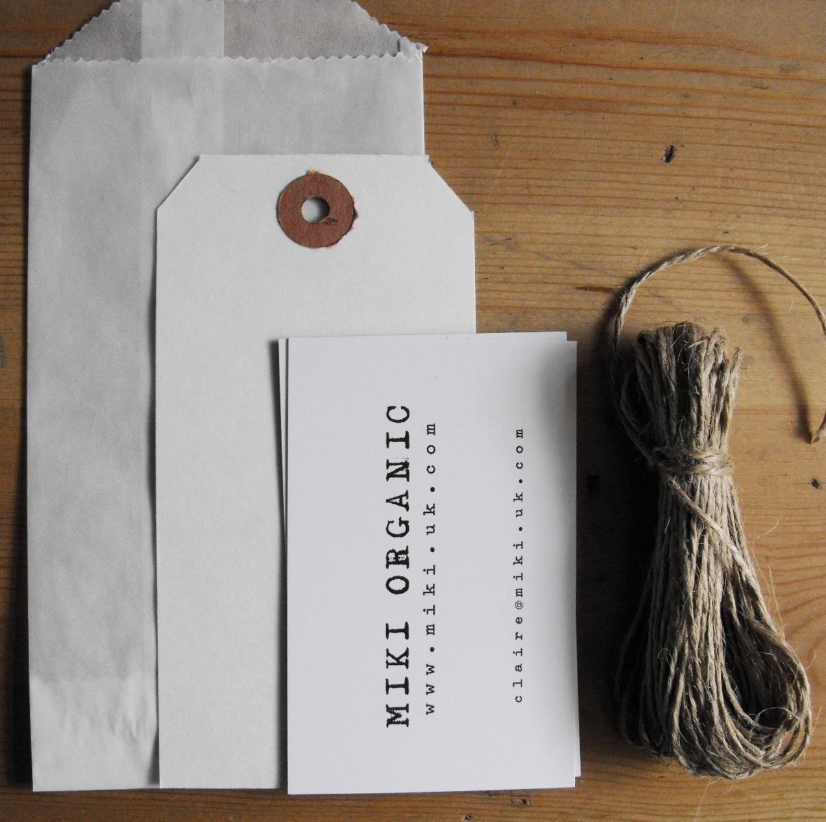 love the use of simple supplies in packaging ~ twine, quality creme ...