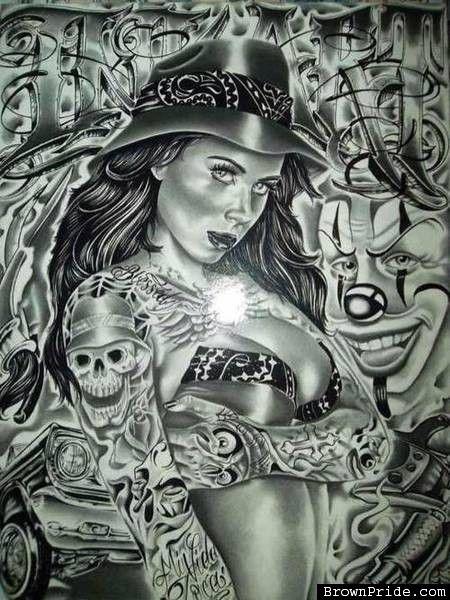 Chicano lowrider brown pride arte lowrider art - Brown pride drawings ...