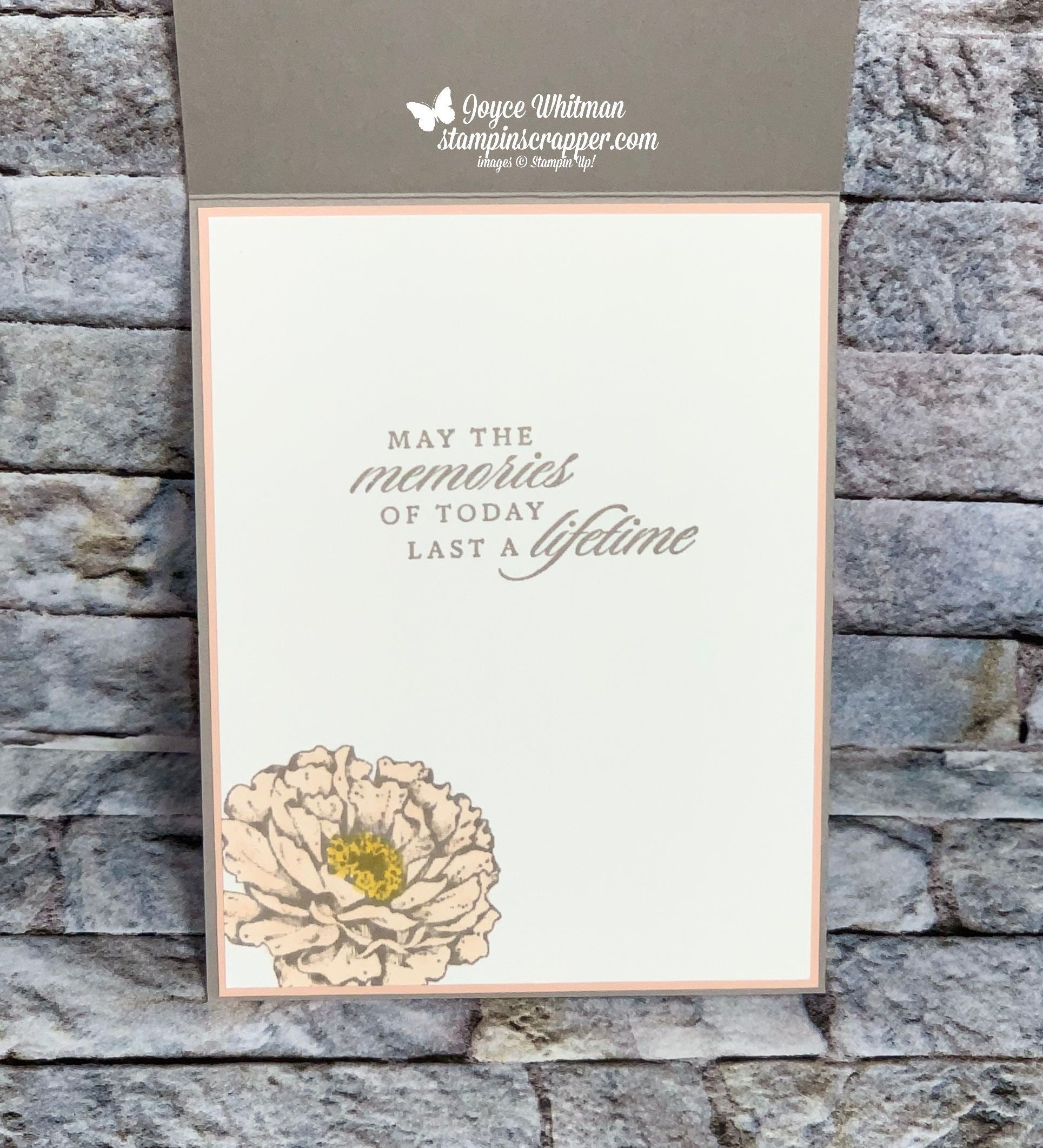 Last A Lifetime With Peony Garden Suite Wedding Card in
