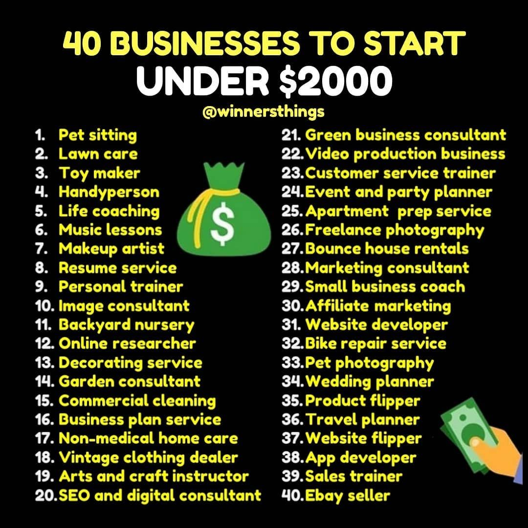 Business ideas Business money, Investing money, Business