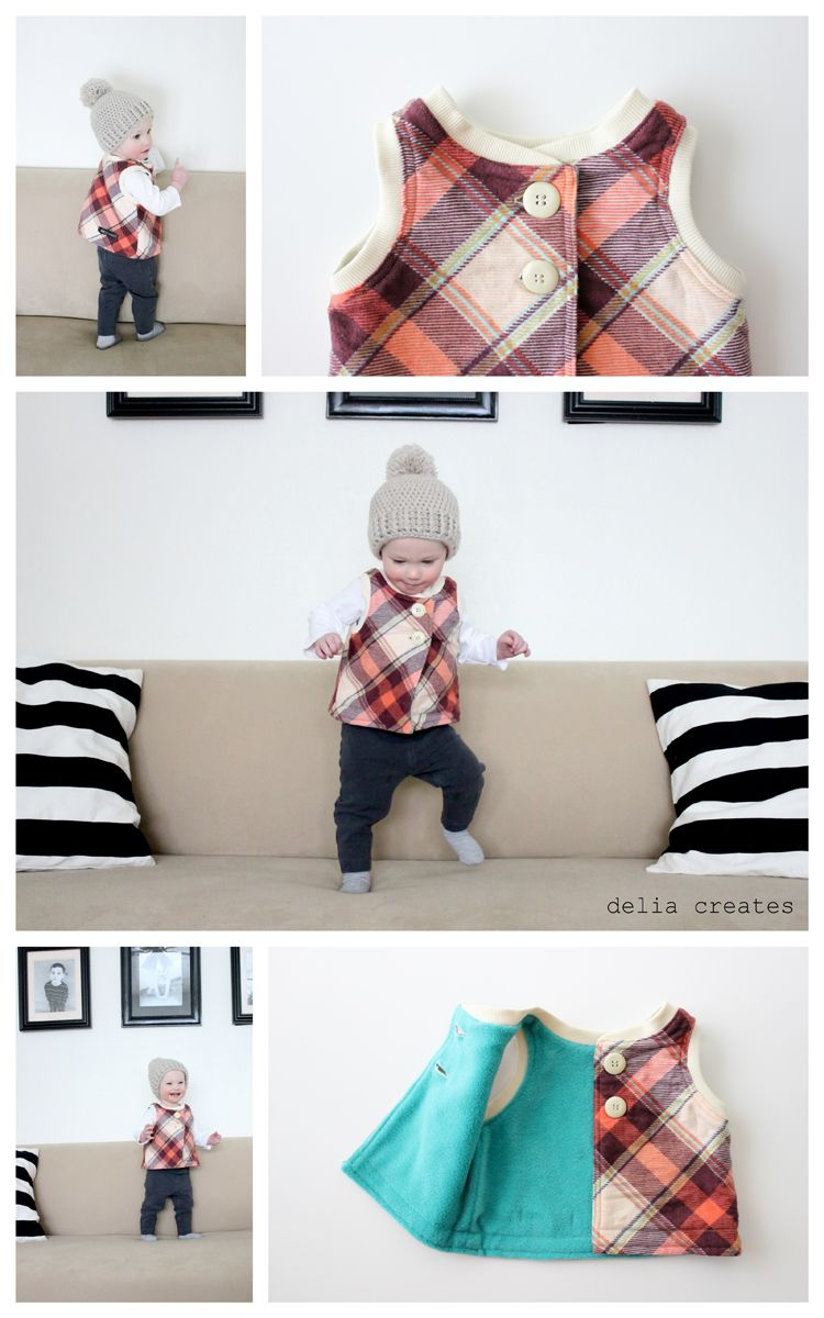 delia creates: MADE Flip Vest Pattern Review & Giveaway #pattern ...