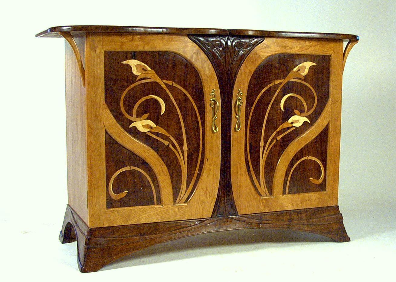 art nouveau furniture art nouveau cherry and walnut sideboard by louchheim art nouveau. Black Bedroom Furniture Sets. Home Design Ideas