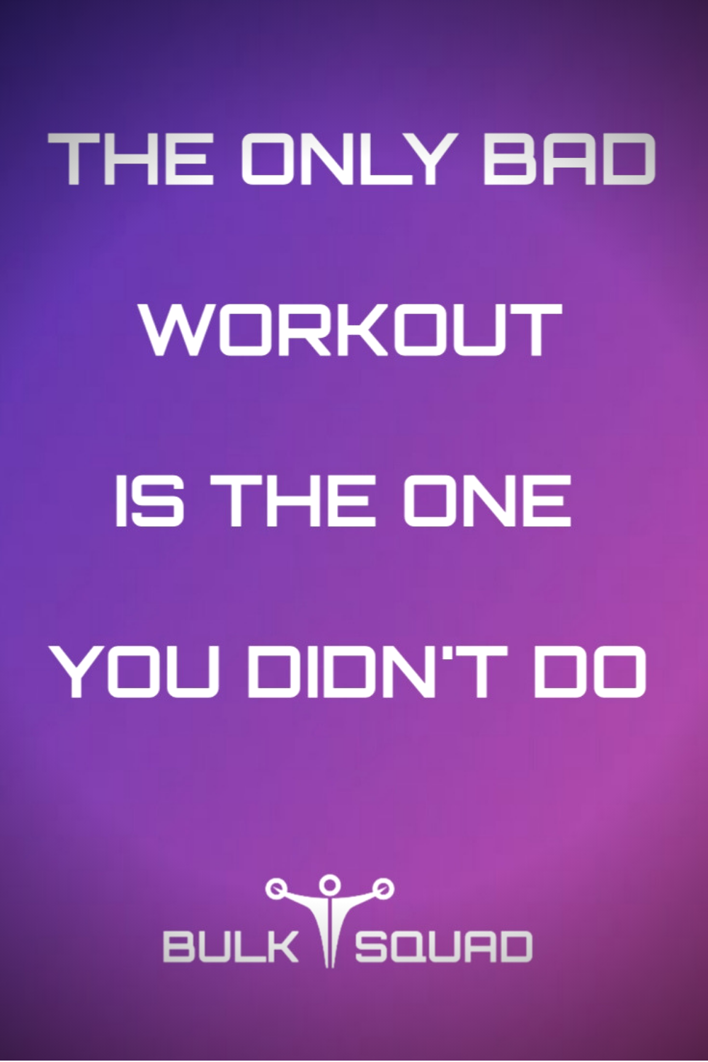 The only bad WORKOUT is the one you didn't do. #GymMotivation#BulkSquad