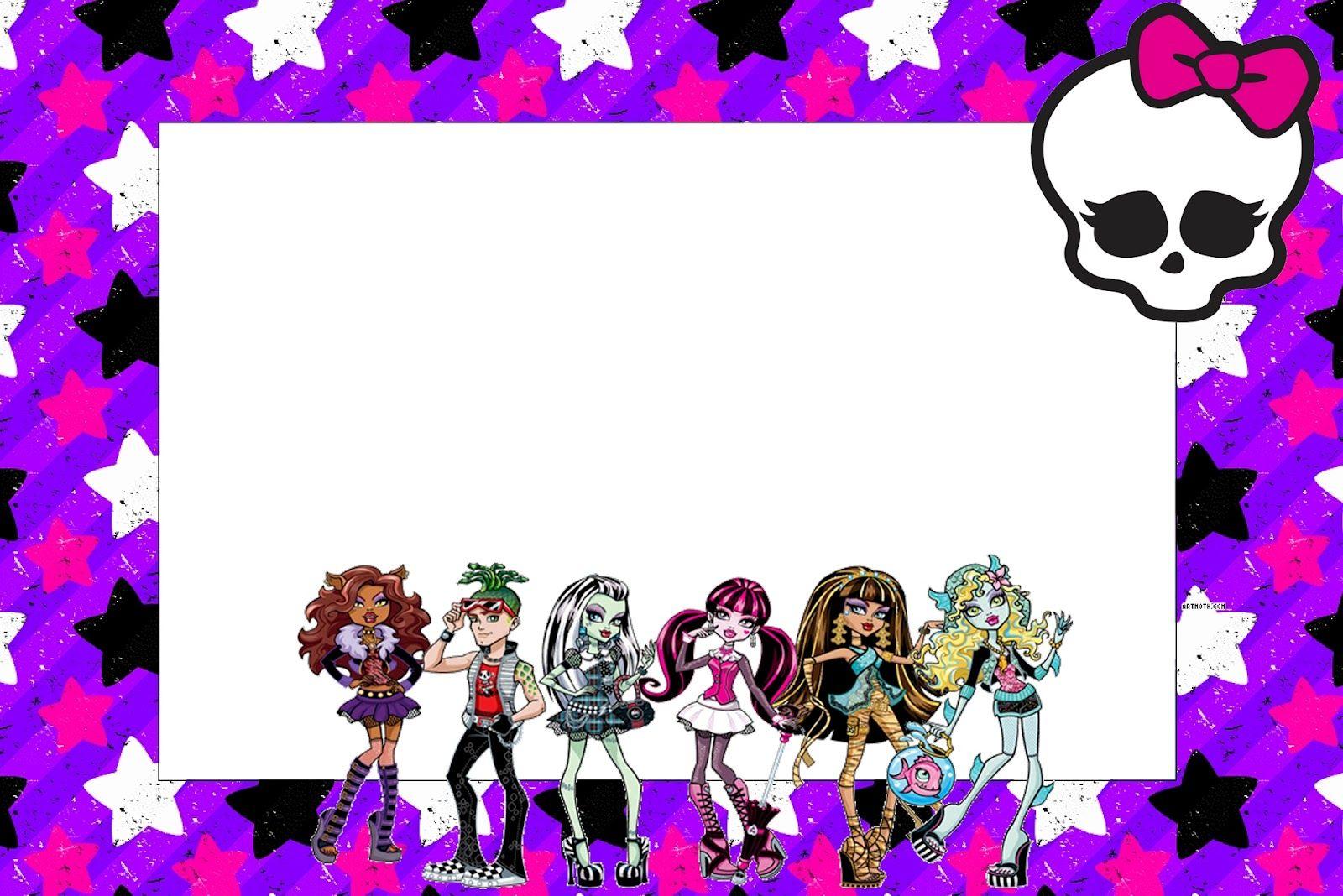 Monster High: Free Printable Party Invitations. | Sammi | Pinterest ...