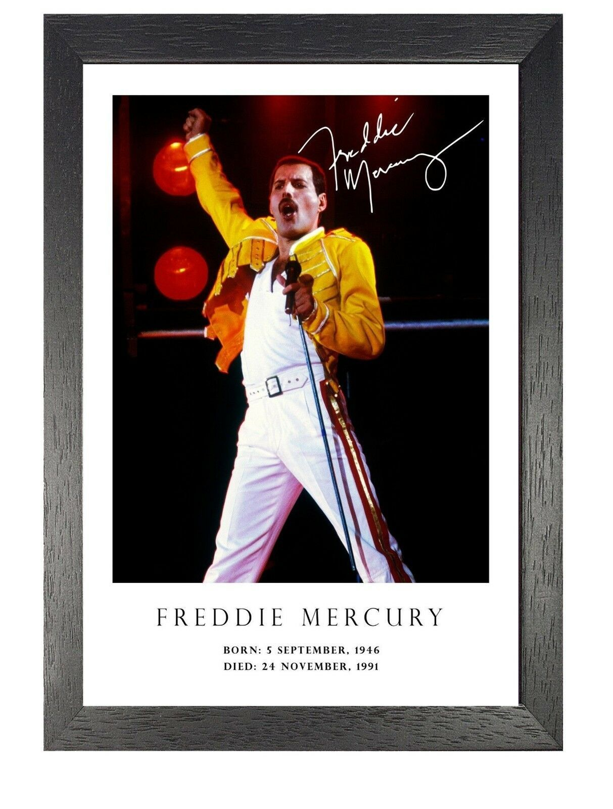 Freddie Mercury 31 British Singer Poster Signed Photo Queen Music Star on  Stage nozztra.com