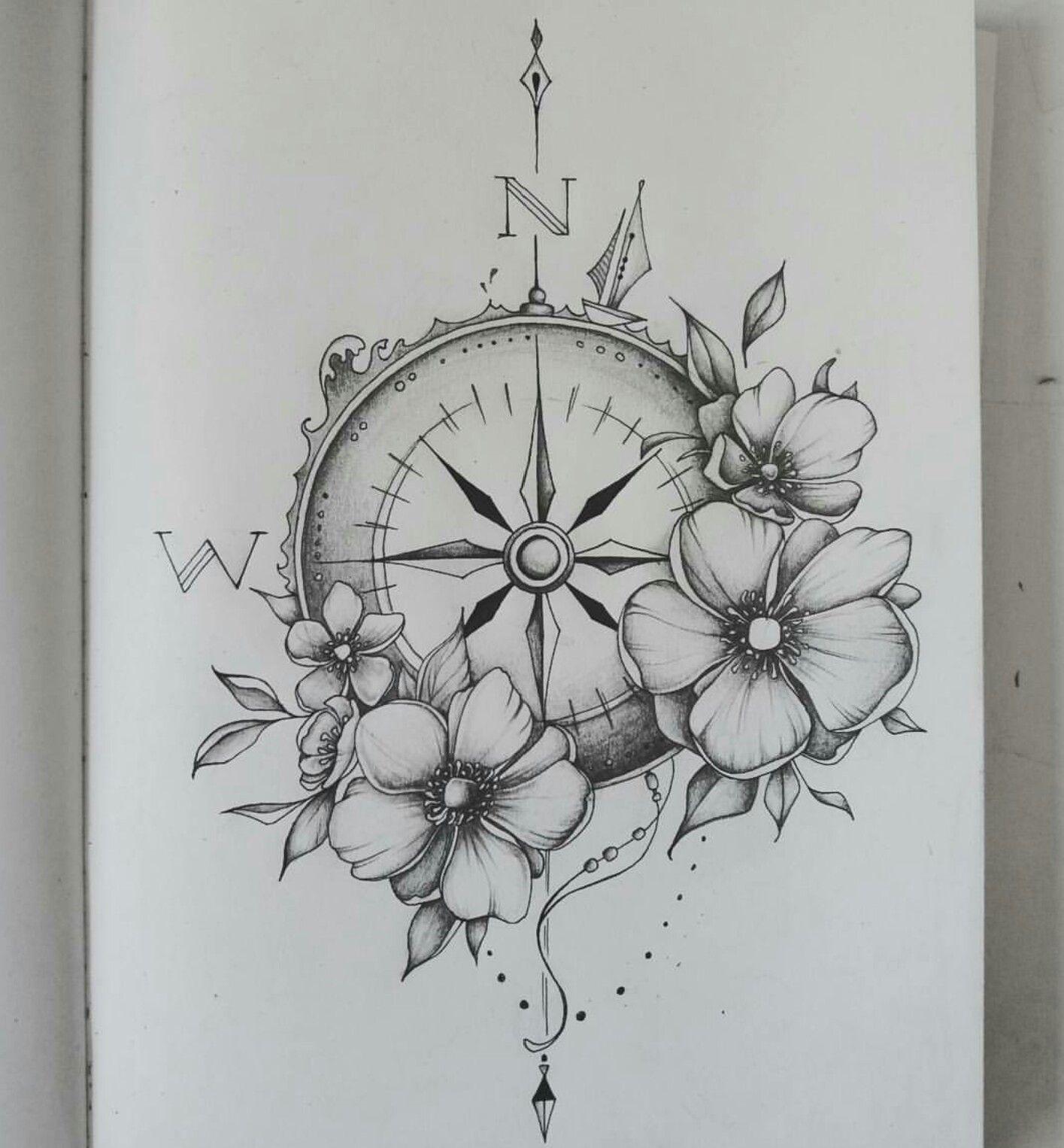 Compass tattoo tattoo pinterest compass tattoo for Decoration drawing