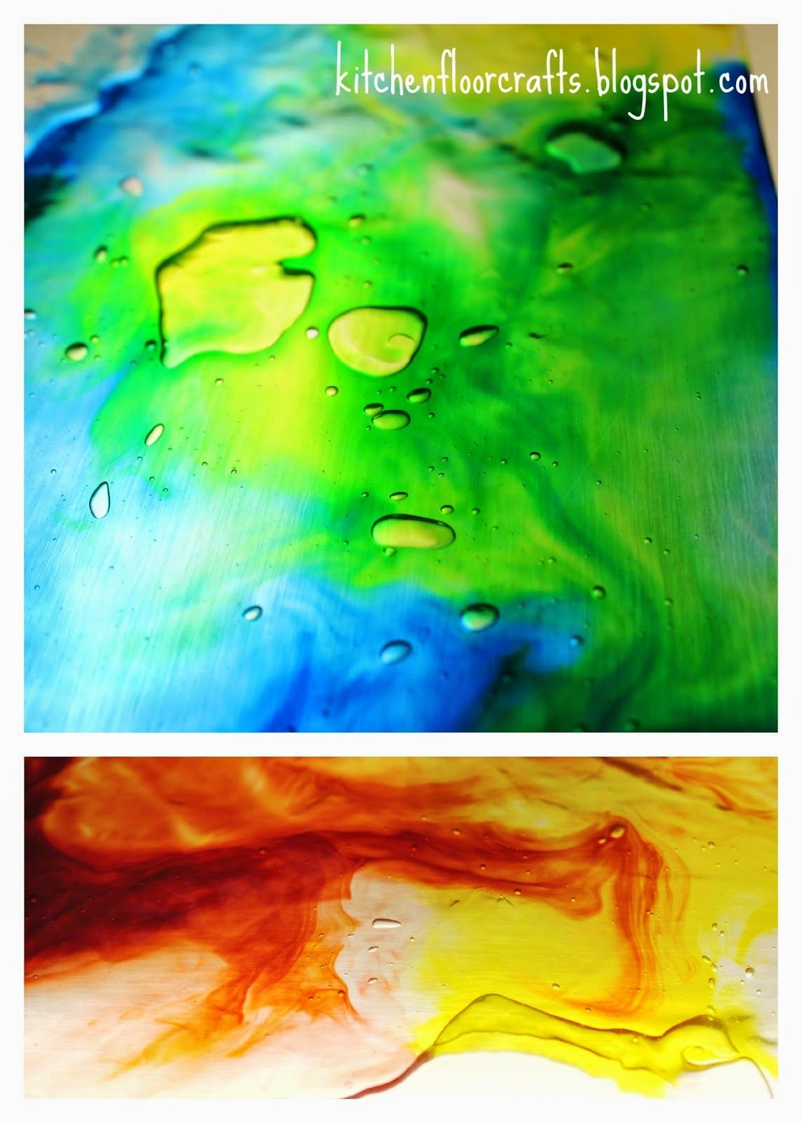 Kitchen Floor Crafts: Mess Free Color Mixing on the Light Table ...