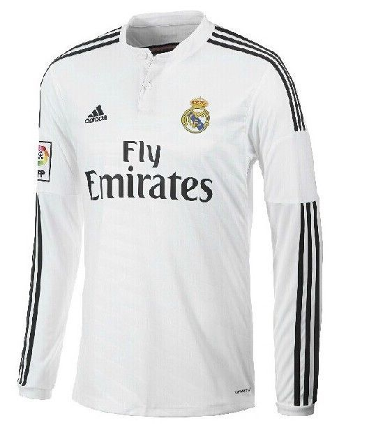 huge selection of ecc8b 3b8a8 New Real Madrid 14/15 Home Jersey Long Sleeves in Size S, M ...
