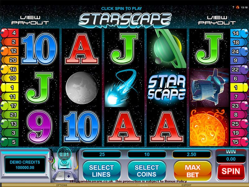 Earn 37500 coins on the #space themed #slots game, Starscape at Vegas Paradise. Play with an instant bonus of £5 on sign up