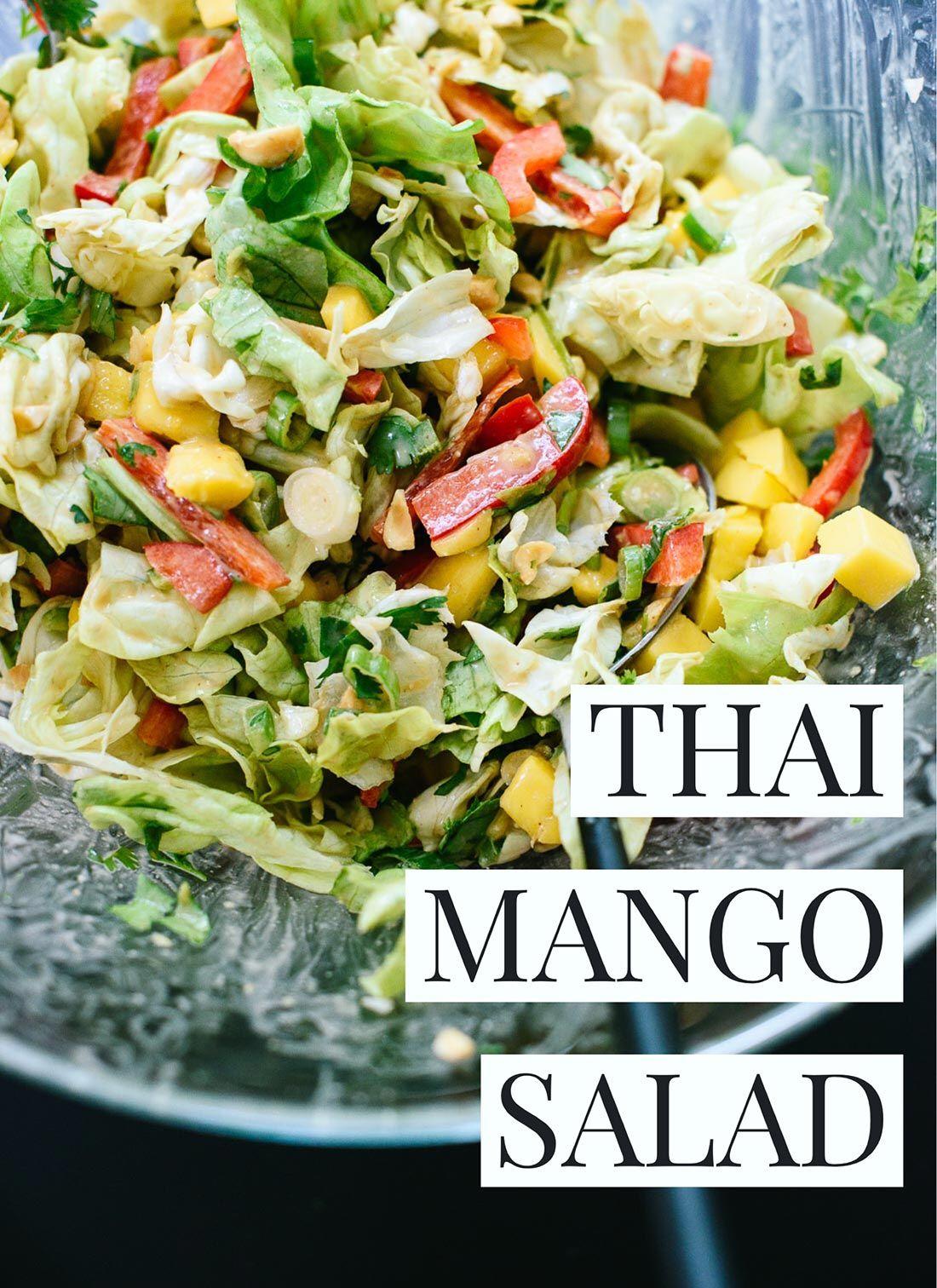 Thai Mango Salad with Peanut Dressing - Cookie and Kate