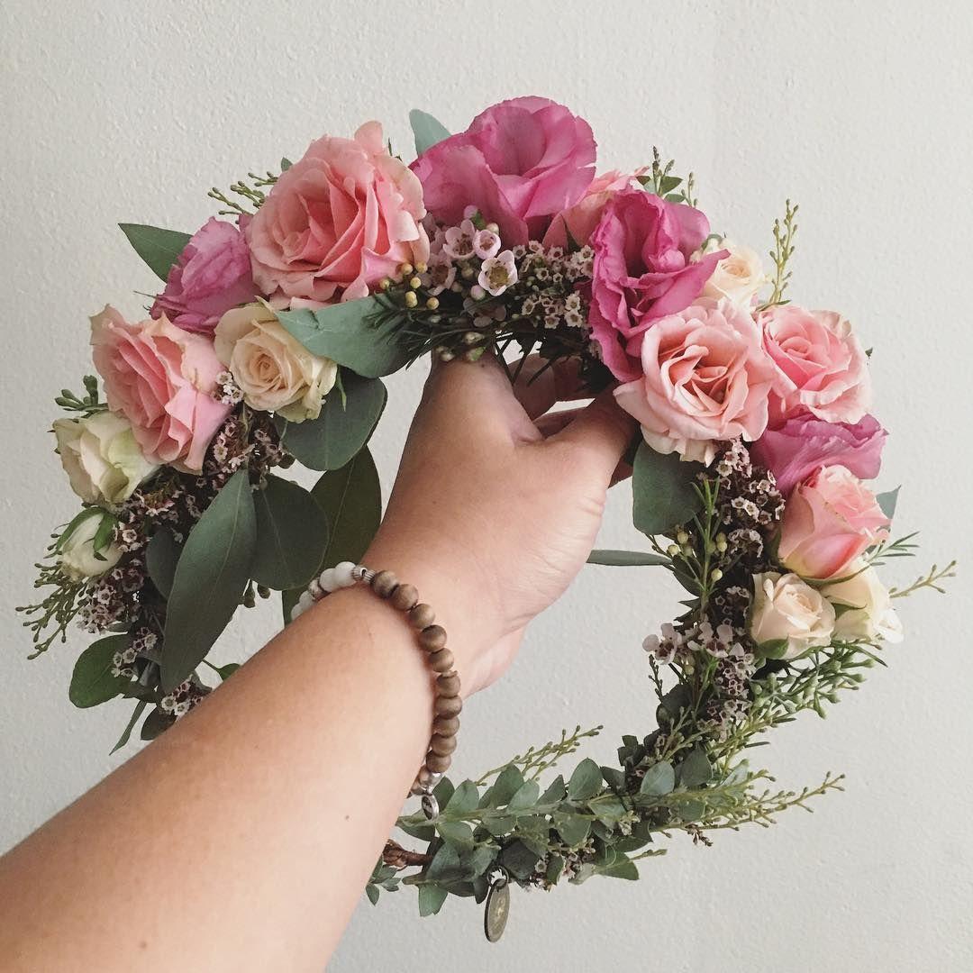 Blush Pink Bohemian Flower Crown Www Thecrowncollective Co Baby Flower Crown Flower Crown Wedding Bridal Flower Crown