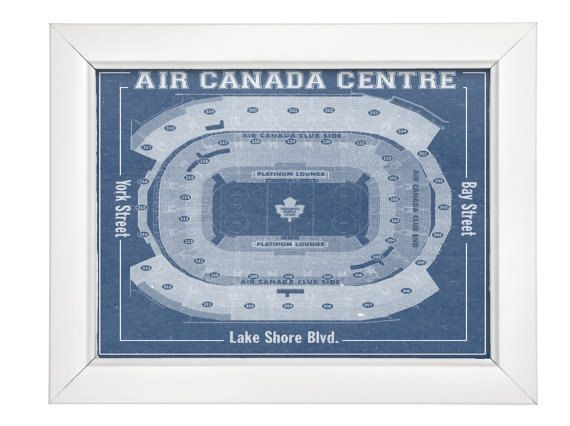 Print of maple leafs at air canada centre vintage blueprint photo print of maple leafs at air canada centre vintage blueprint photo paper matte or canvas sports drawing hockey nhl art photography malvernweather Gallery