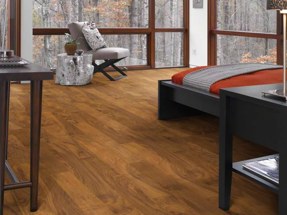 Shaw Heritage Hickory 6quotx48quot Laminate Room Scene Fence