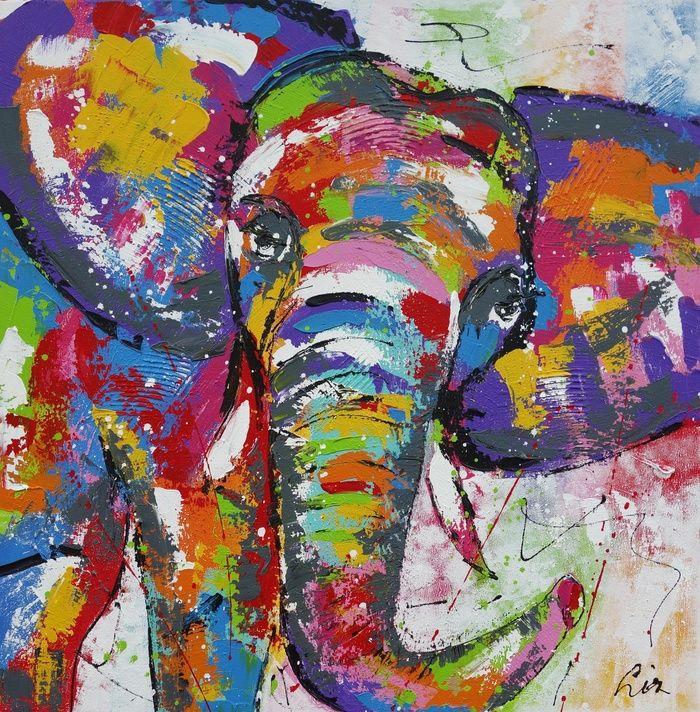 Olifant schilderijen tekeningen en schilderijen for Schilderij olifant