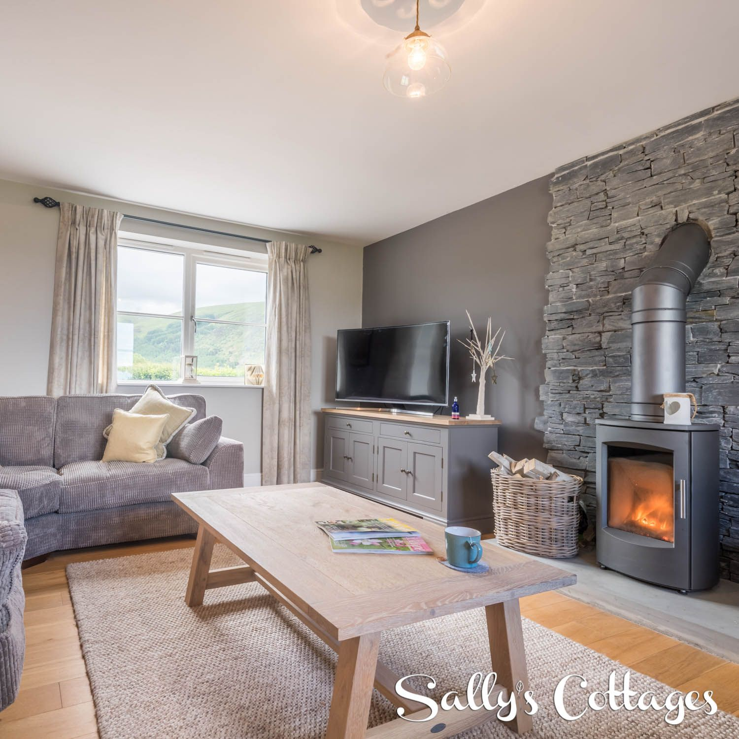 The Cosy Sitting Room With Traditional Log Burner Sumptuous Sofas