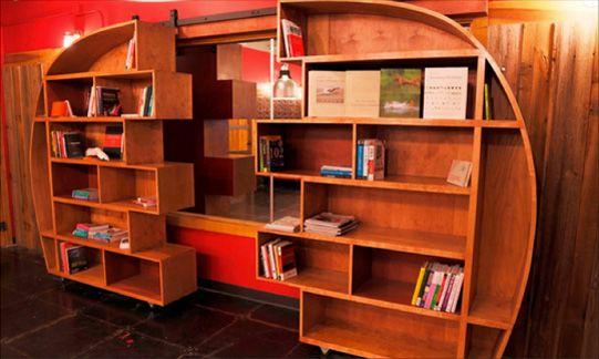 Secret Page Sliding Bookcase